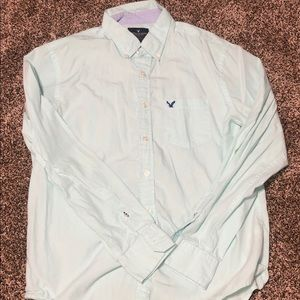 American Eagle Light Blue Button Up